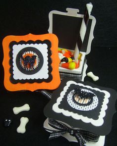 Not all Halloween treats have to be scary; these stylish treat boxes made by HolidayQueen are sure to elicit a smile rather than a scream from partygoers.
