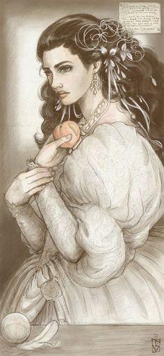 Sarah as Persephone by janey-jane on deviantART