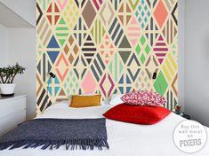 Geometric pattern wall mural by PIXERS