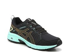 Take your workout to the trails in the womens GELVenture 7 running shoe from ASICS. A traction sole adds stability on uneven terrain while the Ortholite footbed provides an extra layer of cushioning. Asics Running Shoes, Stability, Layers, Workout, Sneakers, Fashion, Layering, Tennis, Moda