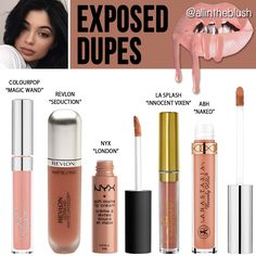 """Kylie's most recent lipkit shade is a classic beige nude called """"Exposed"""". Because it's such a classic nude color, it wasn't that hard to find some alternative lipstic…"""