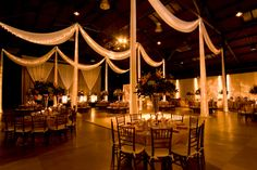 loved this draping.. very romantic reception