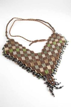 Ian Lander Jewelery : Macrame : Necklaces : Hematite