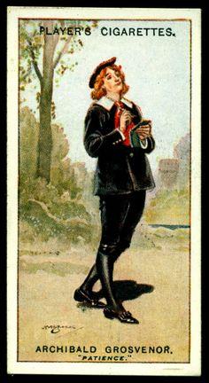 "https://flic.kr/p/gCT5Sv | Cigarette Card - Archibald Grosvenor ~ Patience | Player's Cigarettes  ""Gilbert & Sullivan"" (A series of 50 issued in 1925) #19 Archibald Grosvenor ~ Patience"