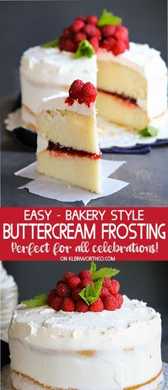 Wondering how to make the Best Bakery Buttercream Frosting? I'm the daughter of a professional baker & I can tell you, THIS is the ULTIMATE frosting! via @KleinworthCo