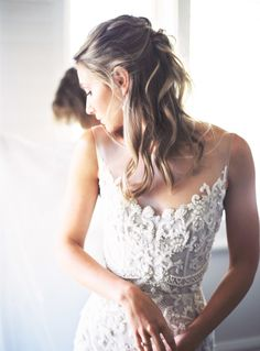Embroidered Paolo Sebastian wedding dress: Photography : Katie Grant Photography | Makeup : Hendra Widjaja | Gown : Paolo Sebastian Read More on SMP: http://www.stylemepretty.com/australia-weddings/western-australia-au/2017/03/16/this-dress-will-completely-slay-you-and-the-wedding-behind-it-will-too/
