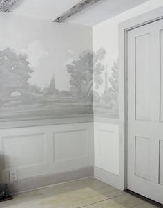 For years I've ached to use scenic grisaille wallpaper in my home. The historically based style, called grisaille due to the use of only shades of grey in the printing and painting, is a look that works in homes both modern and deeply traditional.