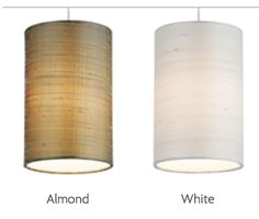 """Fab by Tech Lighting - 5"""" dia. - Cylinder shaped shade, constructed of Indian silk with hand-rolled edges. Task Lighting, Dining Room Lighting, Bedroom Lighting, Cylinder Shape, End Tables, Diffuser, Mesas, Work Lights, Track Lighting Bedroom"""