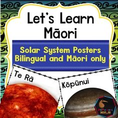 Posters with Mori names of Planets including the Sun. Bilingual and Mori version. Planets are sized so students can see how they compare to each other. A simple worksheet is also included where students match the name of the planets to a worksheetSuitable for mainstream or immersion classesIncluded are- Bilingual posters - Te Reo posters- Worksheetclick here for all of my Maori resources--Customer Tips: How to get TPT credit to use on future purchases: Please go to your My Purchases page…