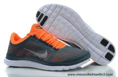 finest selection 2225c 5d207 Cheap Mens Dark Armory Blue White Total Orange Shoes Nike Free 3.0 V5  580393-418