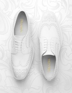 Prada white shoes creative still life photography. Shoe footwear photographer. Luxury goods still life image maker, Josh Caudwell. For commercial, advertising, product and editorial. London, New York, Paris, Milan.