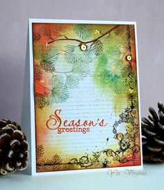 Stamps: Holly Berries (Simon Says Stamp/Clearly Besotted), Ink: (Vintage Photo, Antique Linen, Mustard Seed, Fire Brick, Peel Paint, Mowed Lawn), Embossing Powder (Cayenne) , Paper: Epiphany by Prima Flowers (6x6 Paper Pad), Smooch (gold), Virginia's View Challenge, distressed look