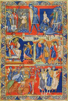 David, The Winchester Bible, England, Winchester, Cathedral Priory of St. Swithin, ca. 1160–80