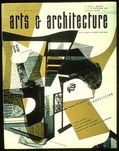 California Arts & Architecture April 1943 cover by Ray Eames