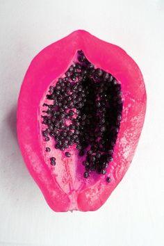 Pink papaya.