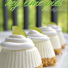 Individual Frozen Key Lime Pies, cute little no-bake pies that will have your family raving for more!  Jeremy is a key lime pie freak. It's no secret that my greatest joy is making dishes that my honey absolutely loooooves. I'm sure I have, on many occasions, listed out his favorite things. On the top …