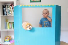 DIY PUPPET THEATER---cardboard and duct tape