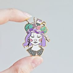 Craft Queen - Gold Plated Hard Enamel Pin by TwillandPrint on Etsy