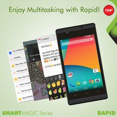 Enjoy Multitasking with Rapid!  #Rage_Mobiles #SmartMagic_Series  Explore Rapid: http://goo.gl/5JKwj2