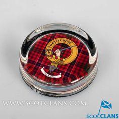 MacRae Clan Crest Paperweight