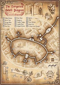 The Forgotten Balath Dungeon, level one by TomDigitalGraphics