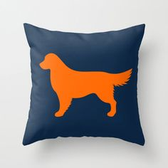 Golden Retriever Silhouette Throw Pillow by ModernPetPortraits, $22.00