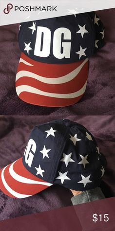 Delta Gamma Sorority American Flag Baseball Cap For sale is a Delta Gamma (DG) sorority baseball cap that is perfect for any American themed events, the Fourth of July, or any tailgate! Only worn a couple of times, in great condition! Accessories Hats