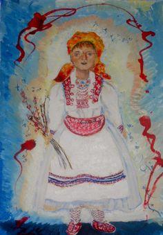 Croatian Girl 10x13 l stilnovich watercolor