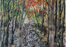 Autumn Enchantment quilt by Noriko Endo; Image courtesy of The ArtQuilt Gallery NYC