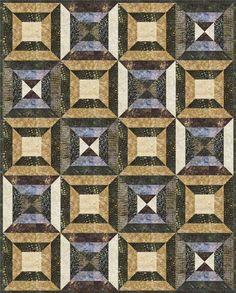 Quilt Project using Elementals: Rhythm   - Artisan Batiks designed by Debra Lunn & Michael Mrowka. Robert Kaufman Fabrics is the worldwide supplier of Artisan Batiks.