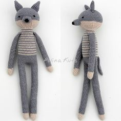 Polina Kuts: Free English Crochet Patterns: Rabbit, Bear, Fox, Wolf & Monkey