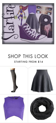 """Starfire~ My version"" by derpyberry on Polyvore featuring Ariat, Chicwish, River Island and Converse"
