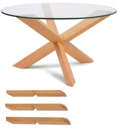 Flat pack coffee tables by Praktrik