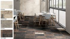 Ceramica Fioranese | Urban_Avenue collection: our colour swatches take on the shades of Urban_Avenue, with warm nuances and distressed textures, ready to bring a #metropolitan look to any setting. http://www.fioranese.it/en/prodotti/urban_avenue-en