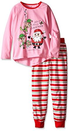 Komar Kids Big Girls' Holly Jolly Jersey BMJ Sleep Set  Komar Kids Big Girls' Holly Jolly Jersey BMJ Sleep Set Long Sleeve Pajama Set. Made of 100 percent polyester. Knitted fabric.  http://www.allsleepwear.com/komar-kids-big-girls-holly-jolly-jersey-bmj-sleep-set/
