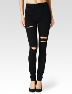 Margot - Black Arlo Destructed - PAIGE