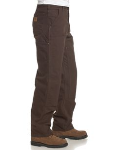 Carhartt Men's Double Front Washed Duck Work Dungaree Pant B136, Moss, 32W X 30L $44.99  For JOHN