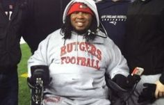 Eric LeGrand, paralyzed during a college football game in 2010 and newly signed to the NFL, uses social media to inspire fans.