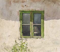 Atanas Matsoureff WATERCOLOR THE OLD WINDOW 50X61.5 2011