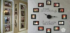 Cool idea for a picture wall