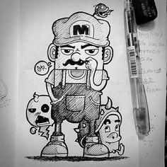 Mario FanArt V.2 #doodle #art #mario #games #Fanart #Gar1992 #lowstudio1992 #funny