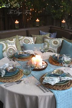 I LOVE THESE COLORS TOGETHER , CANDLELIT DINNERS & OUTDOOR LIGHTING! RLV