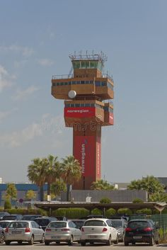 Photo about The control tower of El Prat-Barcelona airport. This airport was inaugurated in 1963. Image of beautiful, heat, catalunia - 116827977