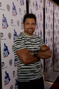 Arrow's Manu Bennett (Deathstroke) at the Superman 75th Anniversary celebration