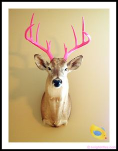 This was an Easter present to Blake Beene, the daughter of Jones Beene, owner of Knight Rifles.  He even painted the antlers pink himself :) We're thinking every father with a little girl should consider doing the same!