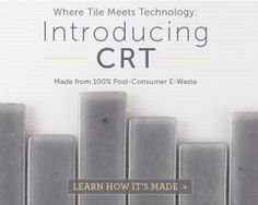 Introducing our new CRT Glass Tile handmade from 100% post-consumer e-waste