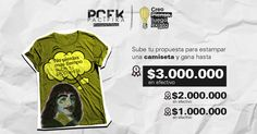 Escribe, diseña, crea, dibuja... una camiseta y gana hasta $3.000.000