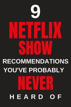 9 2019 Netflix Show Recommendations You've Probably Never Heard Of - If you're looking for Netflix Show Recommendations for 2019 that you've probably never heard of - Must Watch Netflix Movies, Netflix Family Movies, Best Series On Netflix, Netflix April, Films On Netflix, Netflix Shows To Watch, Netflix Hacks, Netflix Uk, Movie To Watch List