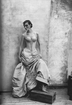 "Inspiration - Christian Lacroix Shalom Harlow in Christian Lacroix Spring 1997 Haute Couture for ""Couture Clash,"" Vogue US April 1997 by Valerian Peter Lindbergh Christian Lacroix, Peter Lindbergh, Beautiful Gowns, Beautiful Outfits, Shalom Harlow, Vogue Us, Glamour, Inspiration Mode, Wedding Inspiration"
