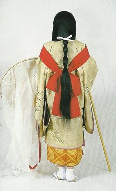 Madame de Pompadour (Court lady of the Kamakura period Japan. Japanese Costume, Japanese Kimono, Japanese Art, Heian Era, Heian Period, Historical Costume, Historical Clothing, Yukata, Kamakura Period